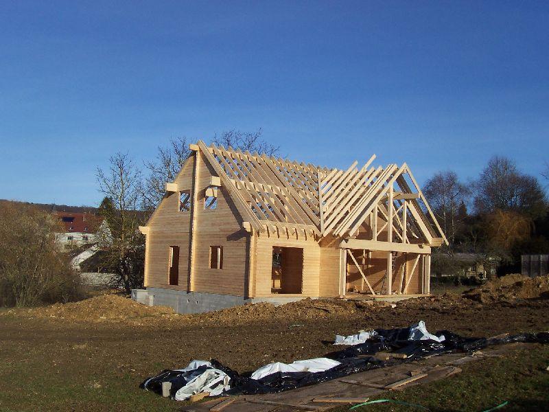 Auto construction d 39 une maison en bois massif page 23 for Auto construction maison