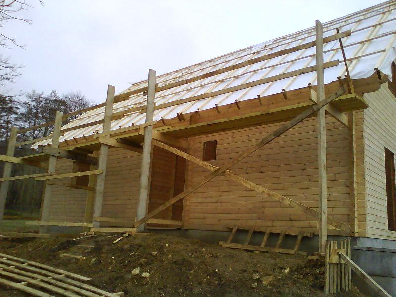 Franck u2013 Page 22 u2013 Auto construction d'une maison en bois massif # Échafaudage En Bois