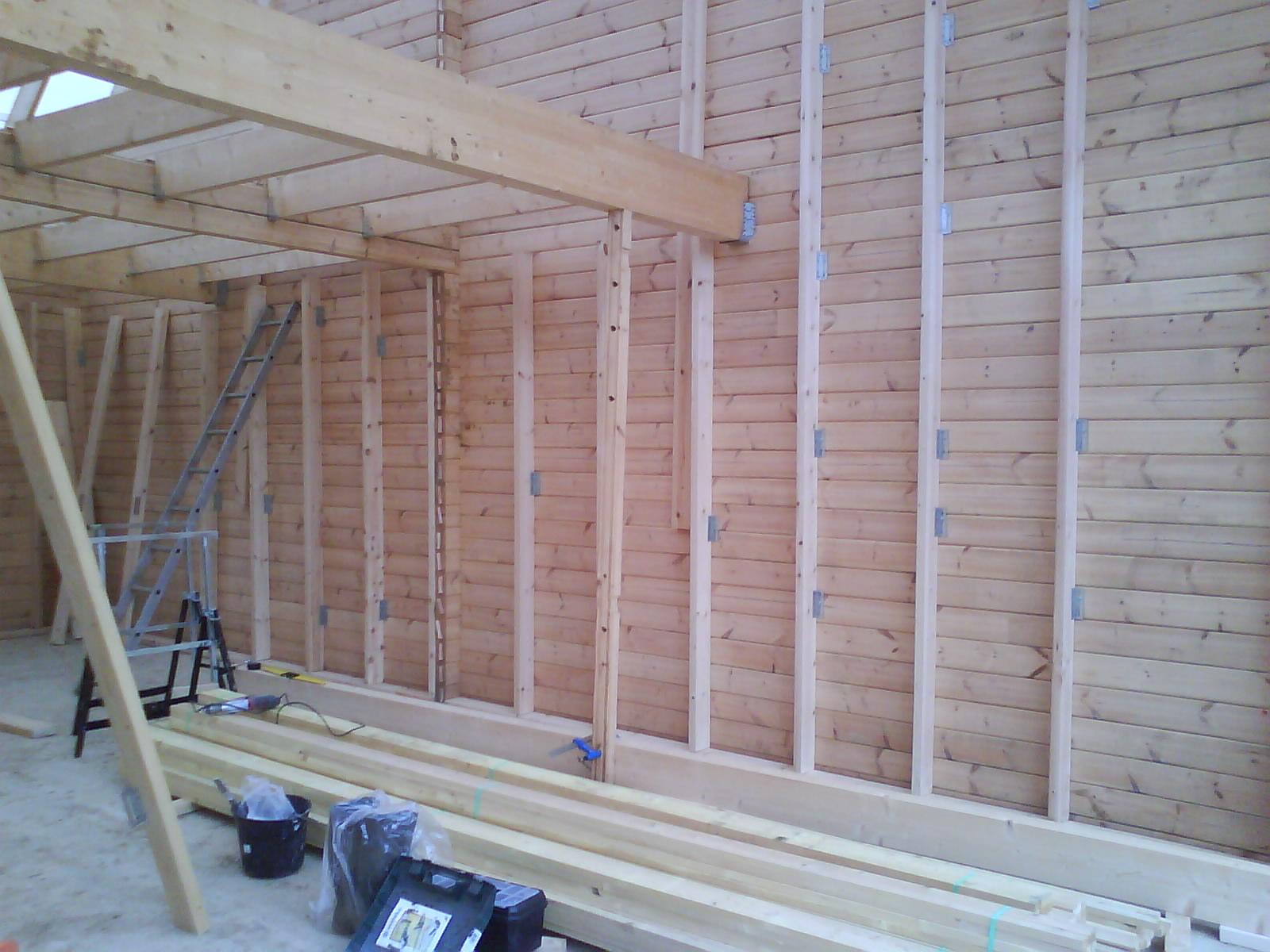 Auto construction d 39 une maison en bois massif page 21 maison bricolage cologie bioclimatisme for Construction bois 21