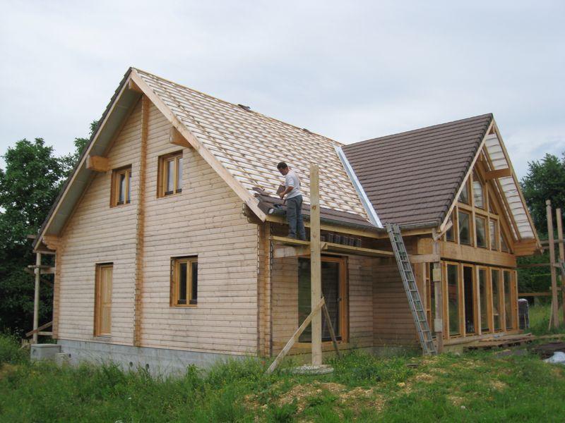 Juin 2008 auto construction d 39 une maison en bois massif for Tuile de rive maison phenix