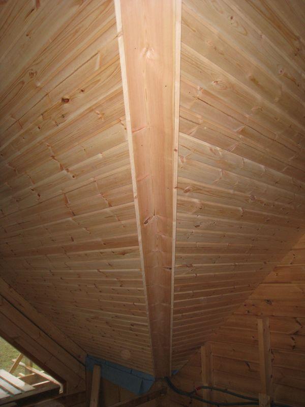 Plomberie auto construction d 39 une maison en bois massif for Montage lambris bois