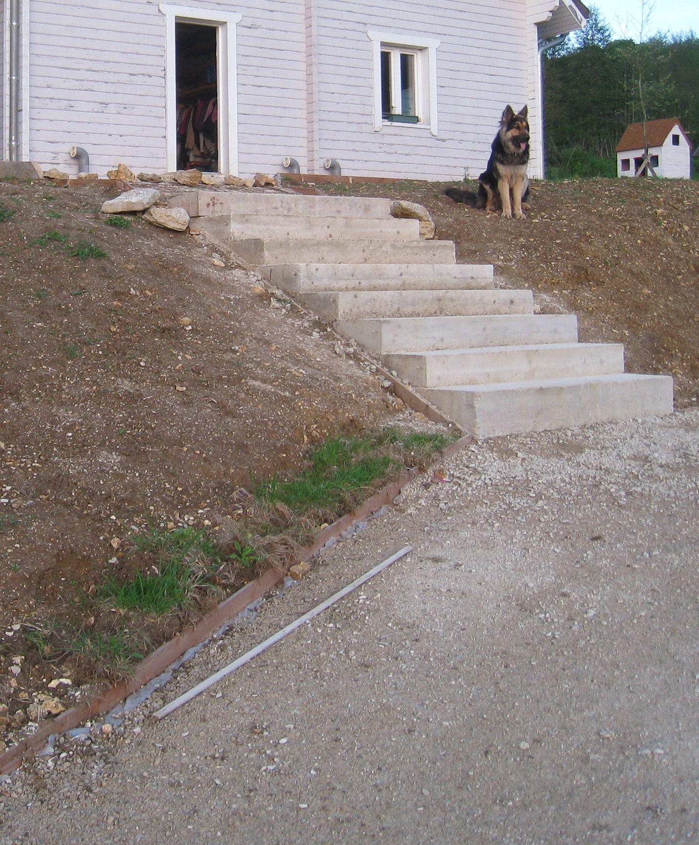 Couler une terrasse contre une maison cr ation d 39 un - Couler une terrasse contre une maison ...